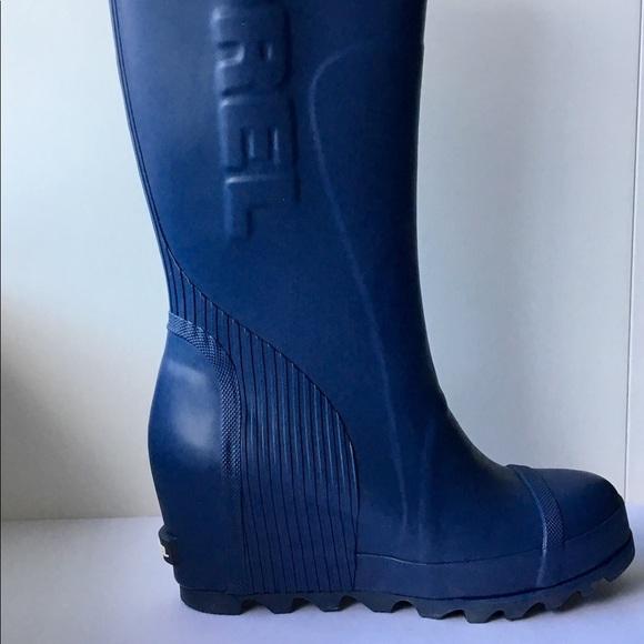 3ee1ebba22a6 Sorel Joan Wedge Tall Rain Boots